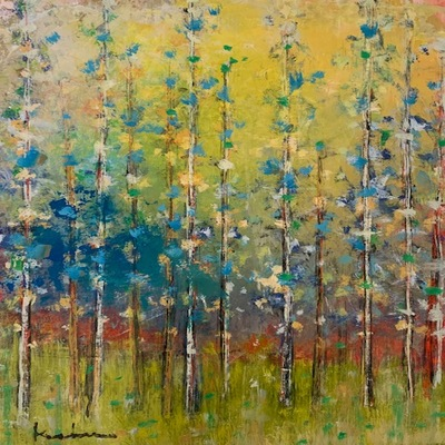 JEFF KOEHN - On the Meadow ll - Oil on Canvas - 21 x 25 inches