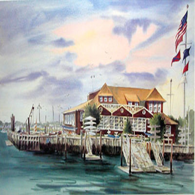 DORIS ZOGAS - Yacht Club Of Stone Harbor - Limited Edition Print