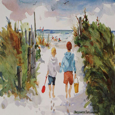 BARBARA OSTRANDER - Beach Boys - Limited Edition Print - 10 x 7 inches