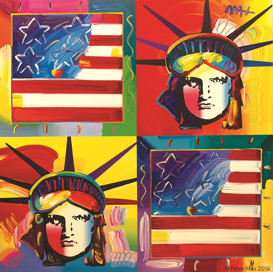 """Flags and Liberty Heads"" Peter Max"