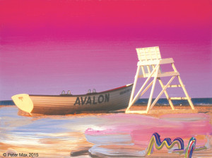 Ocean Series – Avalon Lifeguard Boat © Peter Max 2015