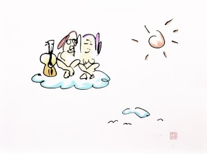 On Cloud Nine - by John Lennon - Copyright © Yoko Ono