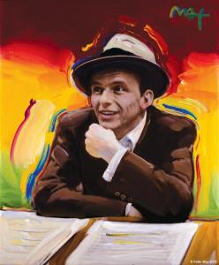 Portrait of Frank Sinatra XVII VER II #1 © Peter Max 2015
