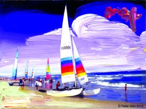 Sailboats - by Peter Max