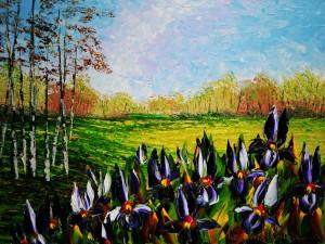 """Meadow Irises"" by Alexandre Renoir"