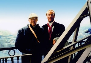 Tom Everhart with longtime friend and mentor, Charles M. Schulz.