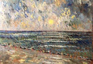 Sunrise on the Beach, 48x40, Copyright Samir Sammoun