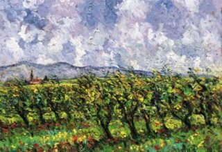 Tuscany Vineyard, 24x30, Copyright Samir Sammoun 2019